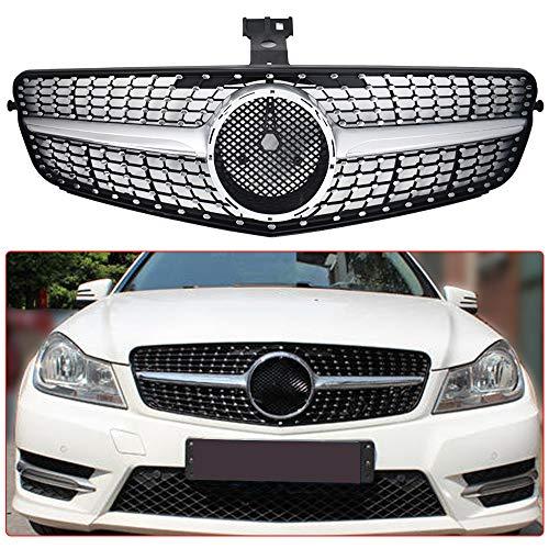 Front Grille Diamond fit forMercedes Benz C-CLASS W204 C180 C200 C300 2008-2014