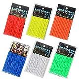 N\A 72 piezas para radios de bicicleta, reflectores de radios de bicicleta, para niños, adultos, 6 colores