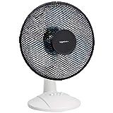Amazon Basics - Ventilatore oscillante da tavolo, a 3 velocità, 40 W, Nero