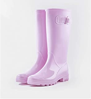 Rubber Boots For Men-Rubber Boots Rain Boots Women's Fashion Models Wear Adult High Tube Korean Water Boots Ladies Water Shoes Cute Rain Boots Non-slip Rubber Shoes |Rain boots