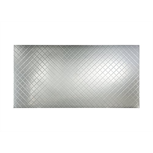 Fasade - 4ft x 8ft x .013in Quilted Brushed Aluminum Decorative Wall Panel (4' x 8' Panel)
