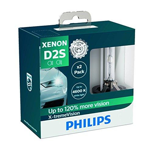 Philips 85122Xv2S Faros Delanteros de Xenón con Bombilla X-Tremevision D2S, Pack 2 Unidades