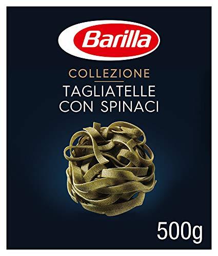 Barilla Hartweizen Pasta Collezione Tagliatelle con Spinaci – 12er Pack (12 x 500g)