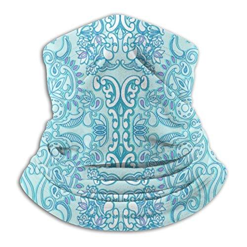 Pañuelo moderno para cuello de damasco, color azul aguamarina