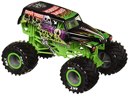 Monster Jam 6047171 Scale Diecast Grave Digger Grabbagger im Maßstab 1:24, Mehrfarbig