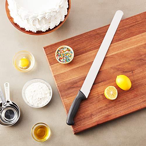 Mercer Culinary Millennia 16-Inch Wavy Edge Cake Slicer, Black