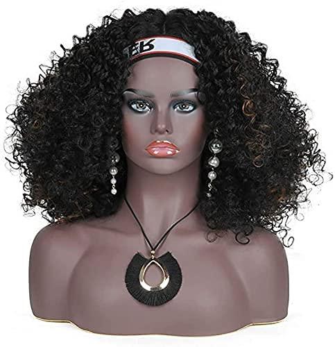 Mannequin Femme Professionnelle tête et Buste Teint pâle avec Oreilles percées Perruque présentoir de Bijoux
