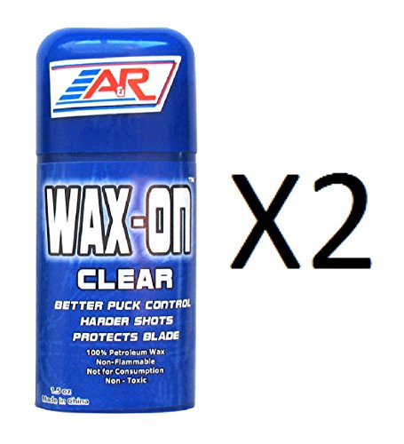 A&R Hockey Stick Clear Rub On Stick 100% Petroleum Wax Protects Blade (2-Pack)