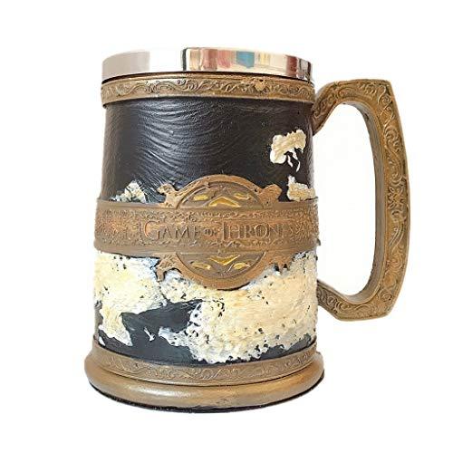 Cool Mapa Taza de Cerveza Copa de café Copa de Resina Acero Inoxidable Creativa Tea Agua DE TABILLO 500-600ml