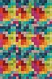 Alfombra Moderna de Lana Festival Multicolor 200x300cm - 100% Lana en Colores Luminosos y Modernos