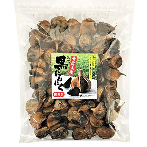 熟成黒にんにく 訳あり 大容量(500g 約2か月分) [自社栽培 青森県産にんにく] 福地ホワイト6片種 無添加