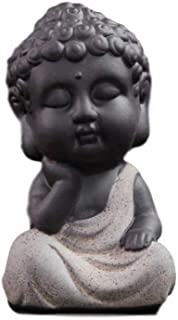 【Rurumi】手のひらサイズ ミニチュア 釈迦像 ミニ お釈迦様 仏像 如来像 置物 オブジェ 縁起物 如来 (C)