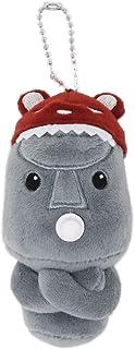 ぬいぐるみマスコット モアイのキャラクター モアーチョ ストラップ キーホルダー かわいい 小さい 12cm