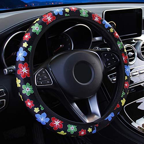 B # Bunte Blumen JOYKK Auto Lenkradbez/üge Blumen drucken elastische Auto-Abdeckungen fit f/ür die meisten Autos