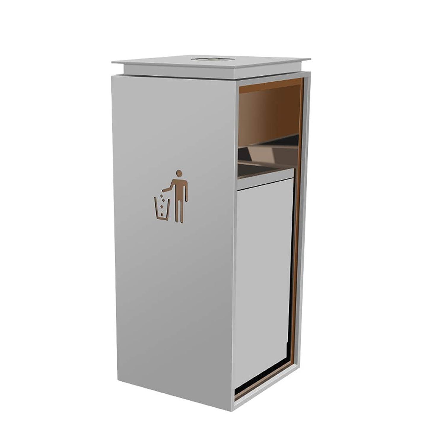 学校信じられない物理学者12Lステンレス鋼のゴミ箱はプッシュアンドプルトラック肥厚ゴミ樽用屋外、ショッピングモール、ホテル、通り