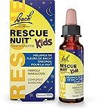 Rescue Nuit Kids Compte-gouttes, Participe à des nuits sereines, sans alcool, Vegan, Complément alimentaire, 1 Flacon Compte Gouttes x 10 ml