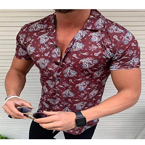 Pantalones Jeans Nueva Camisa Floral para Hombres Camisa Cas