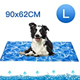 Dog Cooling Mat 90 x62cm, Pet Gel Self-Cooling Pad for Summer Sleeping Bad Kennel Crate,Keep Pets Cool for All Ages Dogs,Large