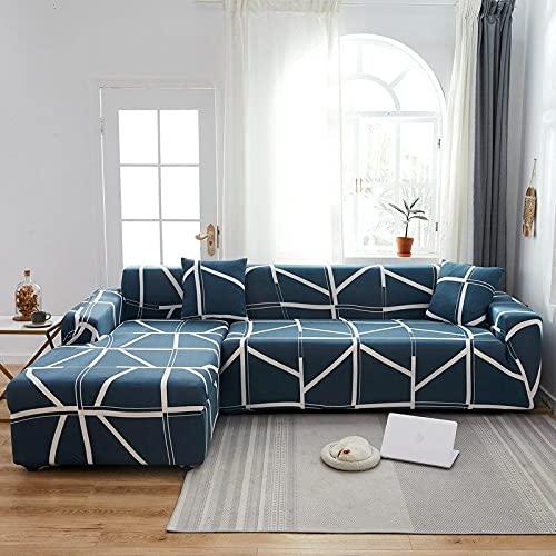 PPOS Fundas de sofá de Esquina para línea sofá Funda de sofá elástica en Forma de l Chaise Longue Fundas de sofá undefined 1-2-3-4 Funda de cojín de Asiento C15 Loveseat 145-185cm-1pc