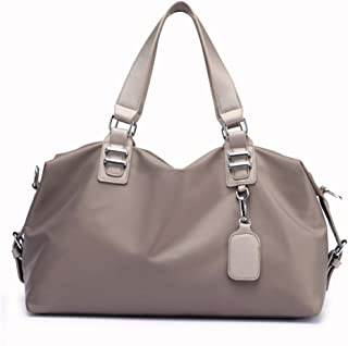 Handbag Shoulder Slung, Unisex, Large Capacity, Oxford Material, Waterproof and Simple, Suitable for Travel, Shopping,Gray