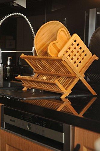 bambum rienda–Estante para platos plato escurridor de soporte grande