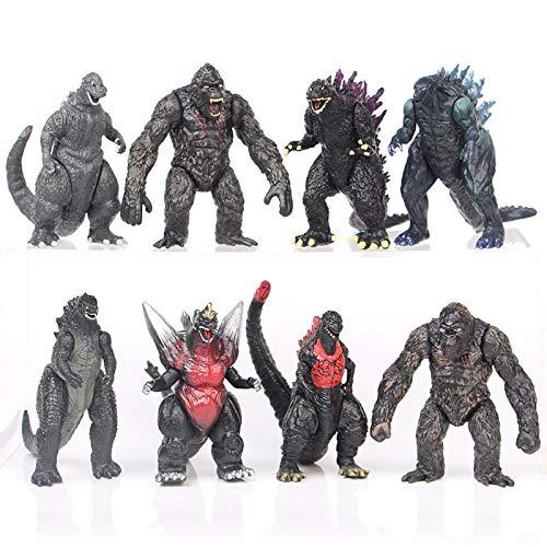 ghfdhf Godzilla Figuren, Godzilla vs Kong Toys King of Monsters Actionfigur Spielzeug, Kinder spielen Action Figuren
