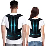 Upgraded Posture Corrector, Professional Posture Correction, Back Brace for Women and Men Support straightener, Relieve Pain of Back Shoulder Neck, Adjustable and Breathable Support Brace, Improve Posture, Provide Back Support, Washable Material - L