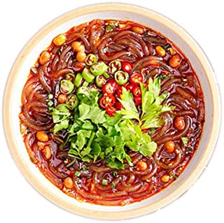 OUYANGHENGZHI Chongqing Hot and Sour Rice Noodles Instant Rice Noodles 重庆酸辣粉, 3 packs