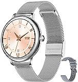 Bengux Smartwatch,Fitness Tracker IP68 Wasserdicht Sportuhr Smart Watch mit Pulsuhr und Blutsauerstoff-Monitor für Damen Herren, Gesundheits- & Fitnessdaten für Frauen, Silber