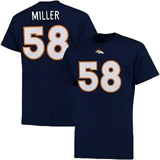 Majestic Von Miller Denver Broncos Navy Big & Tall Name and Number T-Shirt