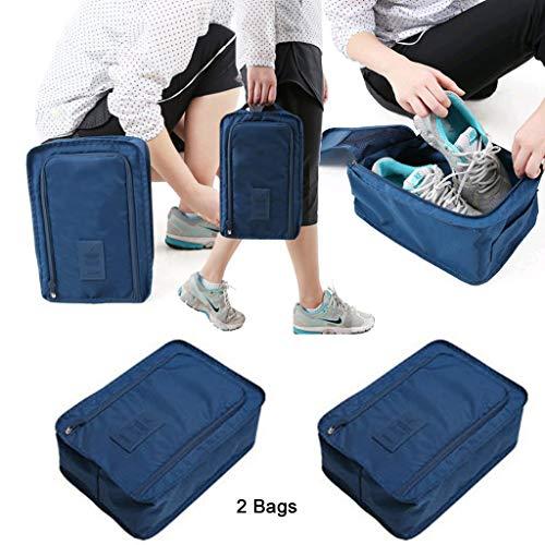KUHO 2 Waszakken, Handtassen voor dames, Reizen Duffels, Gym Bags Travel Totes voor man - Roze/Blauw/Grijs/Rode wijn/Donkerblauw/Oranje/Roze (6 kleuren) stijlnaam size Donkerblauw