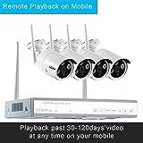 ✔Haben Sie Funktion von Playback, Internet-Cloud-Speicher, Bewegungserkennung, automatische E-Mail-Alarm, Multi-Plattform-Ansicht und Kontrolle, Plug-and-Play, p2p Client auf Handy ✔Infrarot Nachtsichtfunktion - Diese privaten Überwachungskameras zei...
