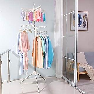 HRS 雨の季節の必需品 室内物干し 室内物干し スタンド 3段式 ステンレス パラソル型 折りたたみ 室内 洗濯物干し