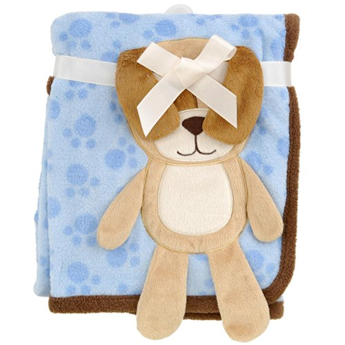 Babies R Us 3D Puppy Blanket - Blue - 30 x 40 by Babies R Us
