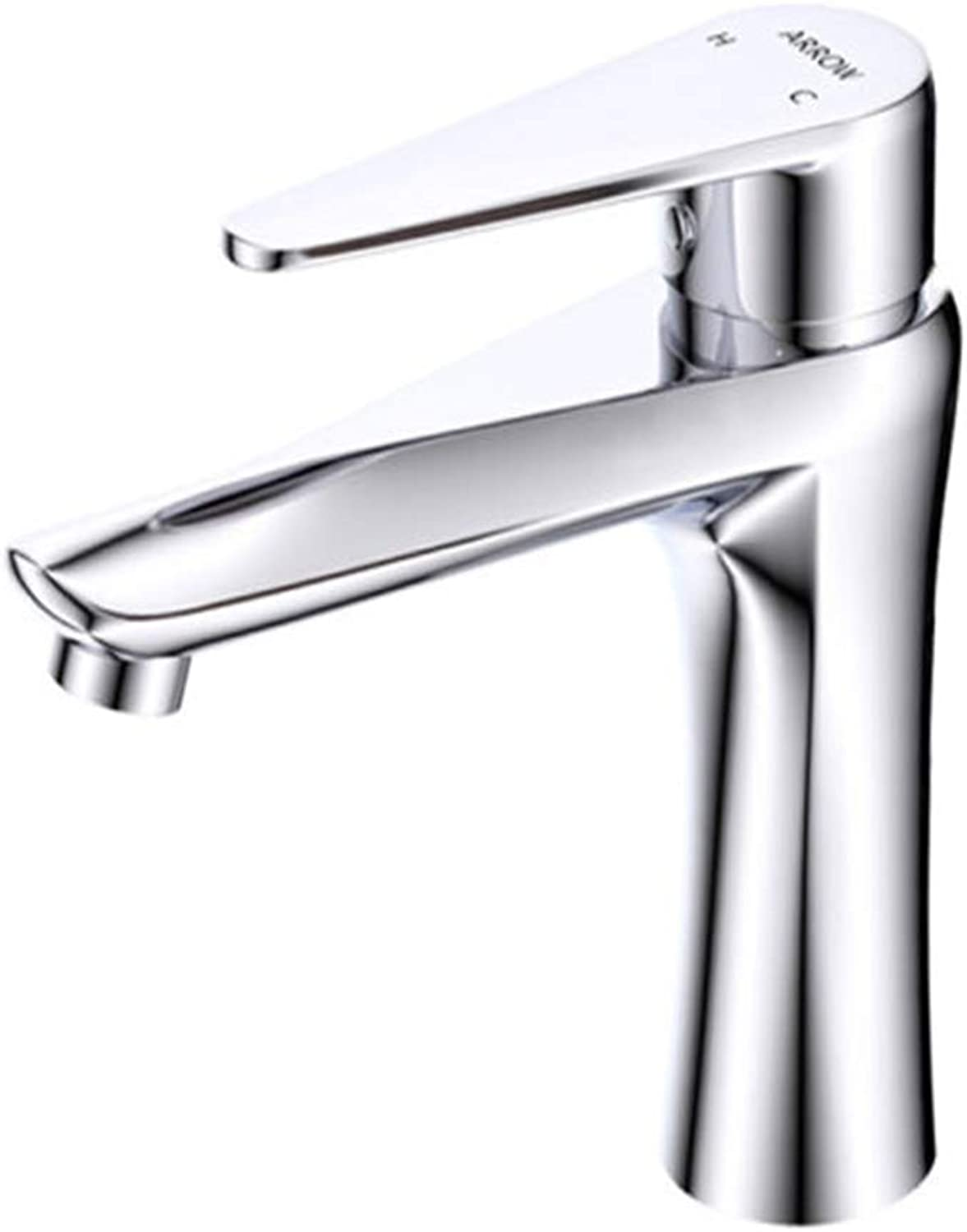 Kitchen Taps Faucet Modern Kitchen Sink Taps Stainless Steelbathroom Copper Faucet Cold and Hot Basin Faucet Single-Hole Bathroom Washbasin Table Faucet