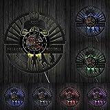SSCLOCK Joueurs de Football Horloge Murale Sport Vestiaire Décoration Murale Design Moderne Rugby Disque Vinyle Horloge Murale Football Fan Cadeau