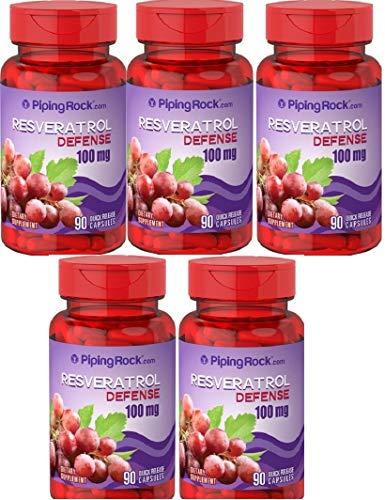 5 Resveratrolo con vitamina C, 100 mg, 90 Capsule, Resveratrol