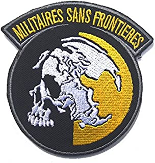 Metal Gear Solid MGS Peace Walker Militaires SANS Frontieres Military Patch Fabric Embroidered Badges Patch Tactical Stickers for Clothes with Hook & Loop