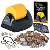 NATIONAL GEOGRAPHIC Starter Rock Tumbler Kit - Rock Polisher for Kids and Adults, Complete Rock Tumbler Kit, Durable Leak-Proof Tumbler, Rocks, Grit, and 5 Jewelry Fastenings, A Great STEM Hobby
