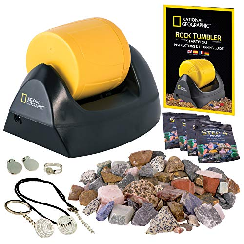 NATIONAL GEOGRAPHIC Starter Rock Tumbler Kit - Rock Polisher for Kids and Adults, Complete Rock Tumbler Kit, Durable...