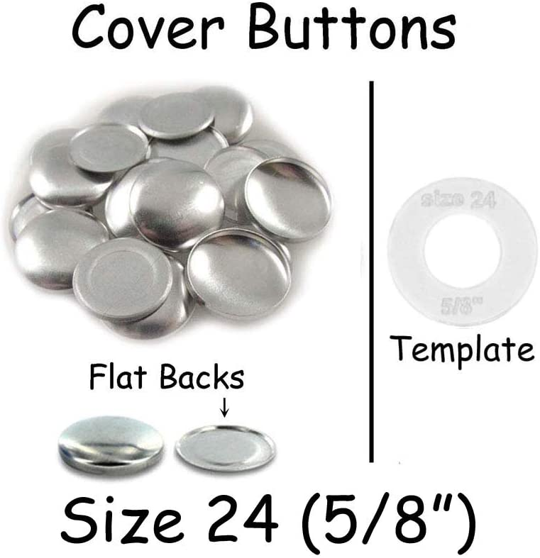 """5//8/""""//15mm Fabric SELF COVERED Choose FLAT or WIRE Size 24 25 Cover Buttons"""