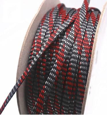 Manguito Cable,Organizador Cables Mangas de cable de mascotas 4 mm / 8 mm / 12 mm rojo gris PP Hilo de algodón Elasticidad trenza de alambre protege los juegos de cables de señal de malla de nylon