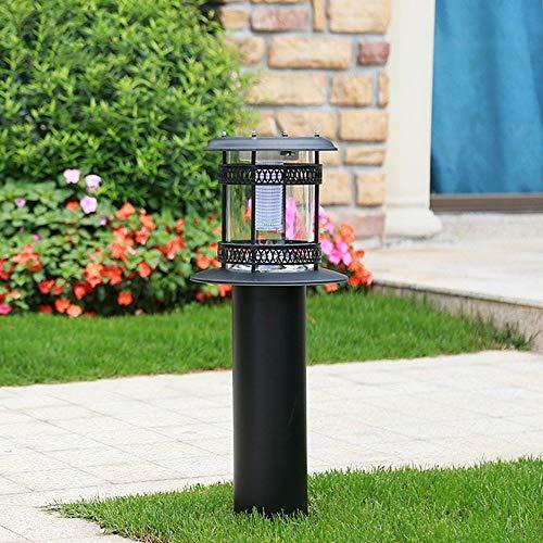 Outdoor Solar gazon licht waterdichte patio column lamp heldere LED tuin desktop landschap verlichting Home Street lantaarn acryl palen lichten villa padlicht, 60 cm