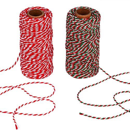AIEX Bäckergarn, Baumwoll Schnur Bastelschnur Bäcker Bindfäden String für Kindertag, Packung, Kunsthandwerk 100m insgesamt (2 Stücke)