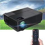 Proyector 4K Compatible, Luximagen FUHD230 Full HD 1080p Nativo 6.800 lúmenes , Dolby AC3 Corrección Digital 4D, hasta 300' LED Cine en casa Doble HDMI USB MKV Corrección Horizontal (Full HD, Negro)