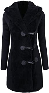 Misaky Women's Winter Warm Buttons Down Coat Overcoat Parka Hoodie Gift Ideas