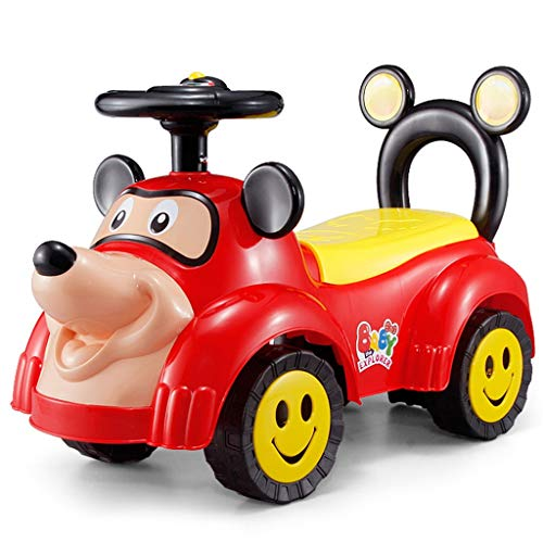 Voiture pour Enfants Twist avec Musique Slide Yo Car Baby Voiture à Quatre Roues pour Tout-Petits 1-3 Ans Baby Toy Poussette FANJIANI (Couleur : Rouge)