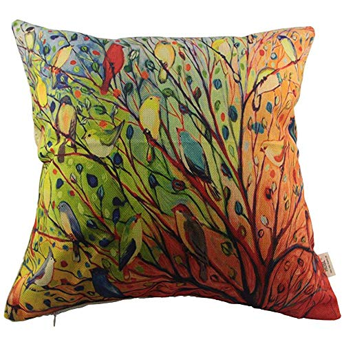 Hosl Cotton Linen Pillow Cover Decor Throw Pillow Case Cushion Cover...