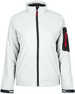 Gill Womens Team Softshell Coat Jacket Coat Silver - Lightweight. Waterproof & Breathable - Warm Fleece Lined