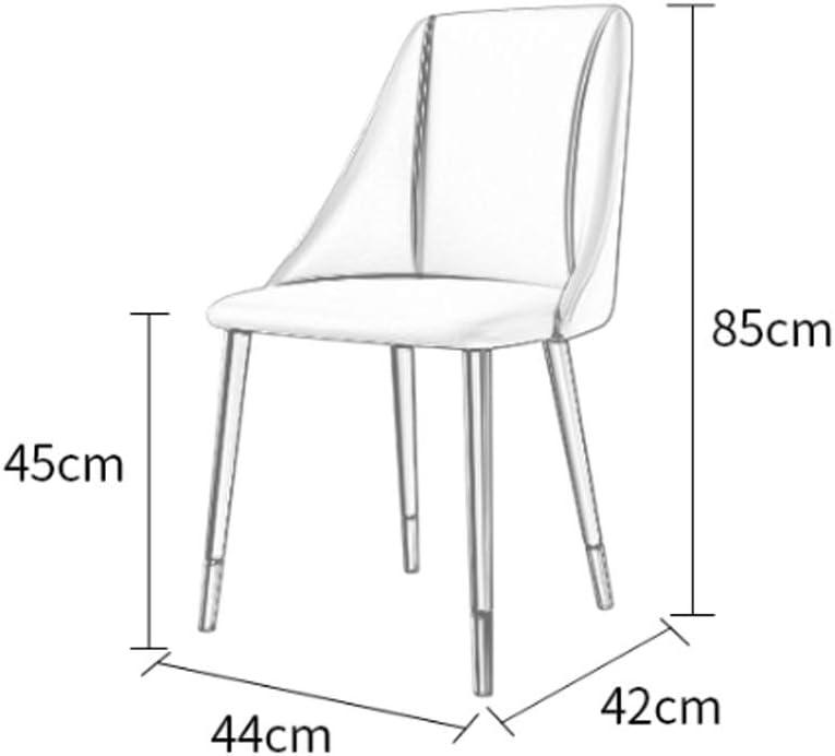 Chaise de Salle a Manger,Cuir Étude Bureau de Dortoir Mettre La Table Réunion Loisir Chaise de Réception (Color : White) Brown